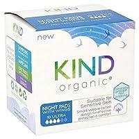 [Kind Organic] パックあたりの翼10との種類の有機夜パッド - Kind Organic Night Pads with Wings 10 per pack [並行輸入品]