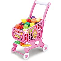 Hoopla Toys Kids & Toddler Pretend Play Toy Shopping Cart Set (48 Piece) [並行輸入品]