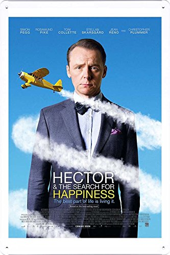 映画のティンサイン 金属看板ポスター / Tin Sign Movie Film Metal Poster Hector And The Search For Happiness Ver3