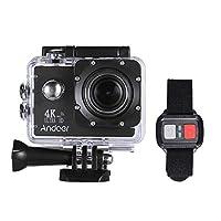 Andoer AN4000 アクションスカメラ 4K 30fps 16MP 1080P 60fpsフルHD 4倍ズーム WiFi 防水40m 170°広角レンズ 2インチLCDスクリーン 支持スローモーションドラマ写真 Allwinner V3 リモコン付き