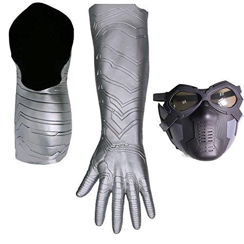 Winter Soldier Bucky Mask Arm Amorウィンター ソルジャー コスプレ マスク 冬の兵士 バッキー イベント パーティー ハロウン クリスマス お面 仮面 変装 鎧 道具