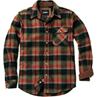 CQR Men's Flannel Long Sleeved Button-Up Plaid 100% Cotton Brushed Shirt HOF Series