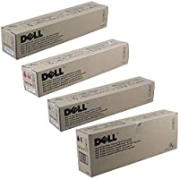 Dell 310-6874 Standard Yield Black with 310-5730, 310-5731, 310-5729 High Yield Color Toner Cartridge Set by Dell