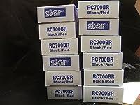STAR MICRONICS (30980720) 12パックrc700brドットマトリックスブラック/レッドインクリボンカートリッジfor Star sp700プリンタ