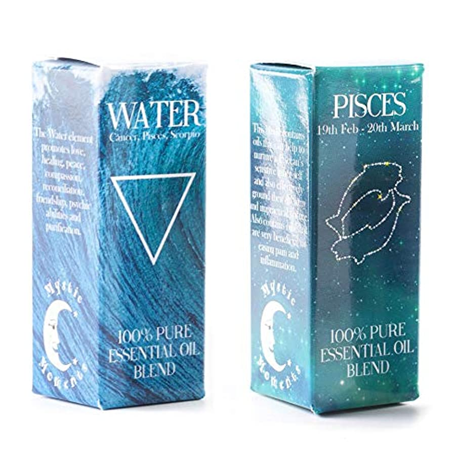 多様体ピルファー強打Mystic Moments | Water Element & Pisces Zodiac Sign Astrology Essential Oil Blend Twin Pack (2x10ml)