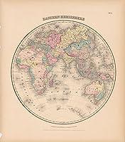 コルトンのアトラスの世界、世界マップ1856|24in X 27In Historicワールドマップ、ワールドマップビンテージReprint