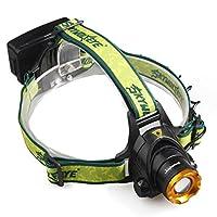 ヘッドライト Yeezii LEDヘッドランプ 小型軽量 3モード 500ルーメンヘッドライト 夜釣り 工事 作業適用 (懐中電灯だけ)