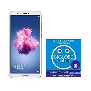 Huawei 5.65インチ nova lite 2 SIMフリースマートフォン ゴールド※クリアケース、イヤホンマイク付属※【日本正規代理店品】 NOVA LITE 2/GOLD & BIGLOBE エントリーパッケージセット