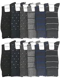 紳士靴下「ビジネスソックス(ベーシック柄)25-27cm」12足セット