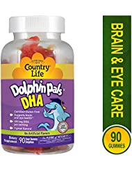 海外直送品Country Life Dolphin Pals DHA Gummies For Kids, 90 ct