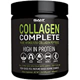 Giant Sports Collagen Complete Pure Hydrolysed Peptides with Added L-Tryptophan, Grass-Fed, Pasture-Raised - Unflavoured, 1.1lbs.