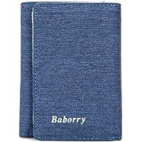 LDUNDUN-BAG, 2019 Men Short Paragraph Change Bag RFID Men's New Wallet Card Bag Wallet (Color : Blue, Size : S)