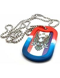 American Eagle Usa犬タグネックレスwithサイレンサー