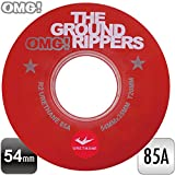 "OMG! ""THE GROUND RIPPERS"" スケートボード スケボー 54mm 85A ソフトウィール クリアレッド クルージング《4個1セット》"