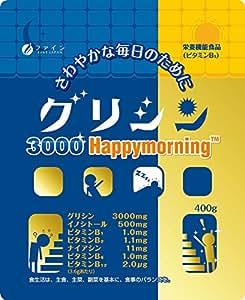 【Amazon.co.jp 限定】ファイン グリシン3000 ハッピーモーニング 400g 袋タイプ