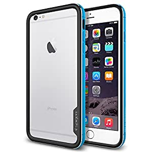 【Spigen】iPhone 6 Plus ケース, [ リアル アルミニウム バンパー] ネオ・ハイブリッドEX メタル Apple iPhone (5.5) アイフォン 6 プラス カバー (国内正規品) (メタル・ブルー【SGP11193】)