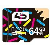 LD Micro SDカード 64GB Class10 高速規格 UHS-1対応 MicroSDHC 64 メモリーカード Androdスマートフォン / タブレット / カーナビ等に対応 microSDXC