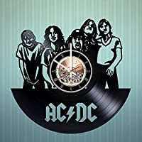 ACDCビニールの壁時計はヴィンテージビニールレコード素晴らしい手作りギフト - 誕生日、記念日、クリスマスのためのリビングルームの保育園の壁の装飾から作られた音楽愛好家の贈り物です。