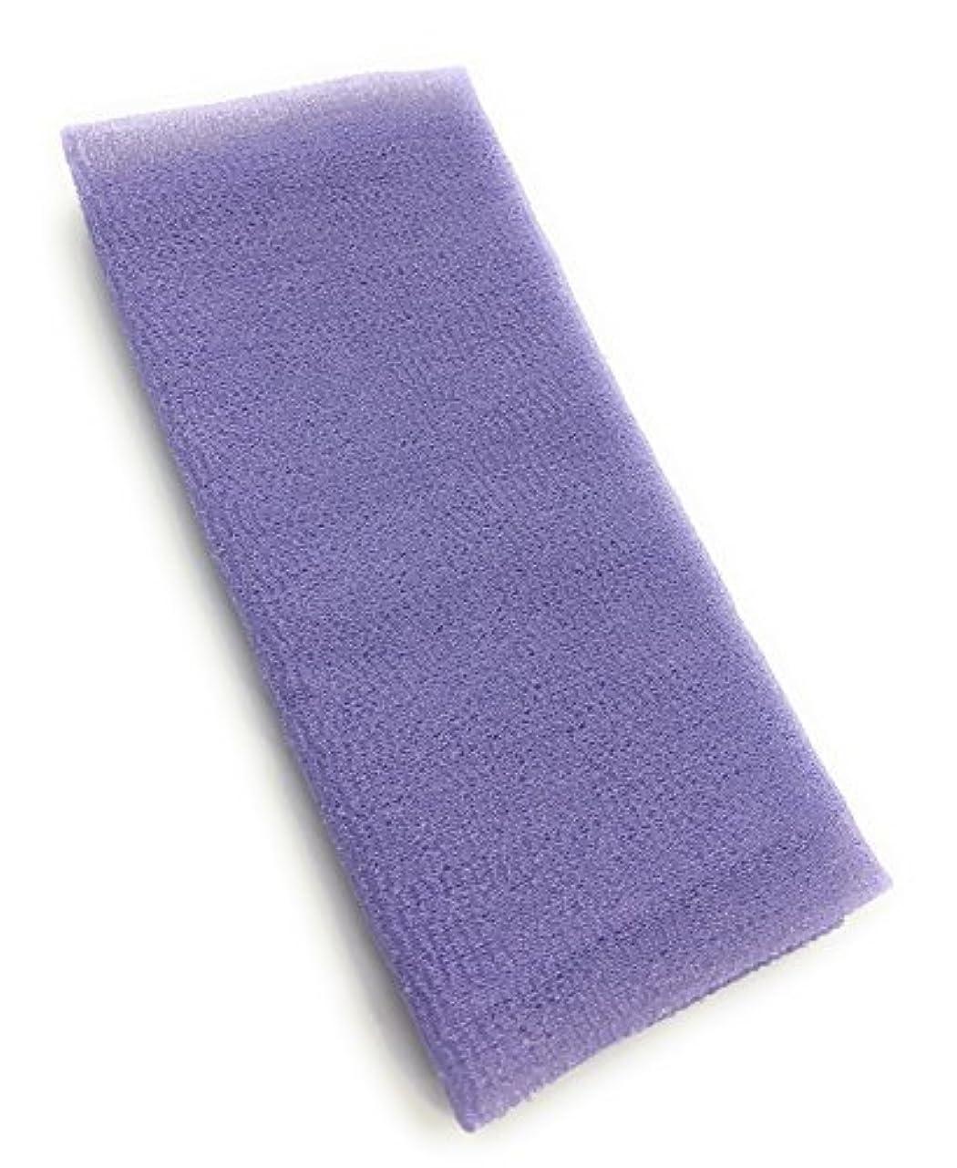 方法国歌レバーMaltose あかすりタオル ボディタオル ロング やわらか 体洗いタオル 泡立ち 背中 風呂 メンズ 垢すり (パープル)