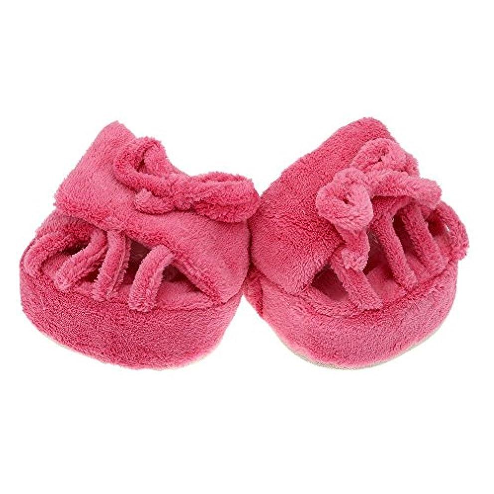 ルート発症石SODIAL キュートスリミング脚スリッパ コーラルフリースハーフソールシューズ インドア ピンク