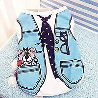 ベストネクタイ、M:ペット犬はヨーキー、チワワのためのベスト小型犬の綿の夏のかわいい小Dogie子犬猫の子猫コスチューム服服服