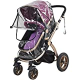 Universal PVC Pushchair Baby Stroller Pram Buggy Transparent Rainproof Cover Rain Shade with Zipper