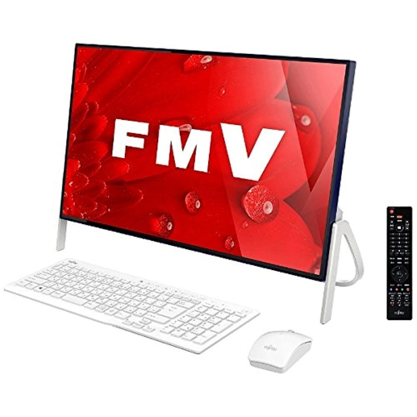 アミューズメント効果植物学者富士通 23.8型デスクトップPC[Office付き?Win10 Home?Core i3?HDD 1TB?メモリ4GB] FMV ESPRIMO FH56/B1 ホワイト FMVF56B1LB (2017年春モデル)
