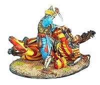 最初Legion cru073Downed Crusader Knight Finished Off by Mamluk Warrior