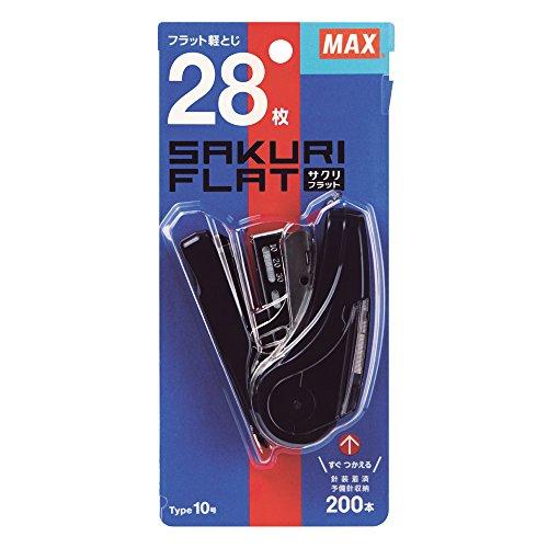 マックス MAX ホチキス ホッチキス サクリフラット 28枚とじ ネイビー HD-10FL2K/NB