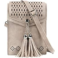 Women Small Crossbody Bag, seOSTO Tassel Cell Phone Purse Wallet Bags