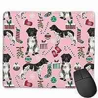 Stabyhoun - クリスマスドッグデザインドッグクリスマス - ピンクマウスパッド 25 x 30 cm