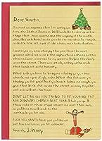 Dear SantaクリスマスJoke用紙カード 1 Christmas Card & Envelope (SKU:1087)