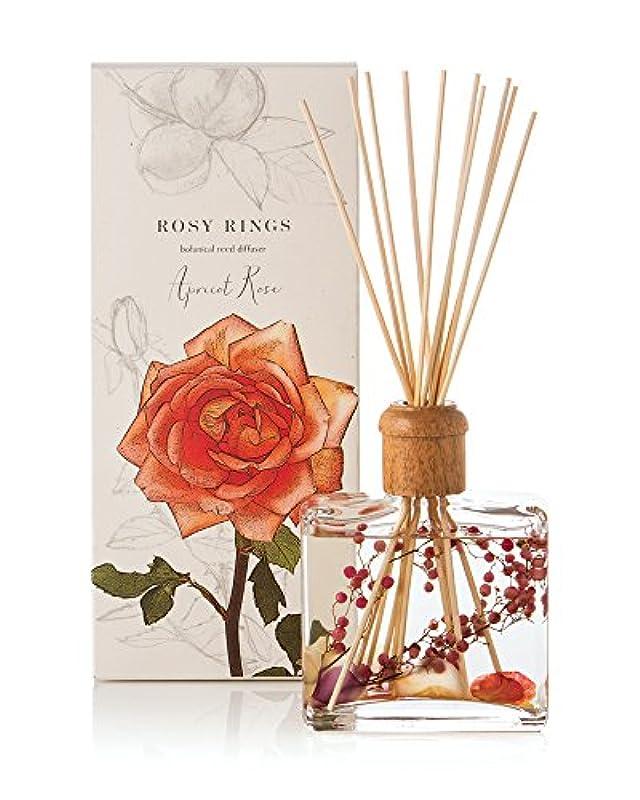 娯楽スペードインレイロージーリングス ボタニカルリードディフューザー アプリコット&ローズ ROSY RINGS Signature Collection Botanical Reed Diffuser – Apricot Rose