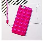 iPhone6 ケース iPhone 6s ケース Ollivan iPhone6 plus/6s plus ケース シリコン かわいい ハート バックカバー ストラップ付き (iPhone 6/6s Plus 5.5インチ, バラ)