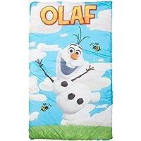 [ディズニー]Disney Frozen Olaf Quilted Slumber Bag, Bonus Backpack with Straps, Light Blue/White JF26948TRUCD [並行輸入品]
