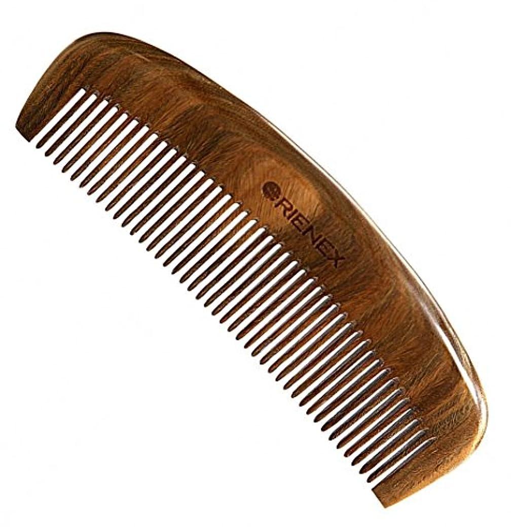 気をつけて端末処分したOrienex 高級木製櫛 ヘアコーム 半月とき櫛 頭皮マッサージ 天然緑檀 静電気防止 (並歯.緑檀)