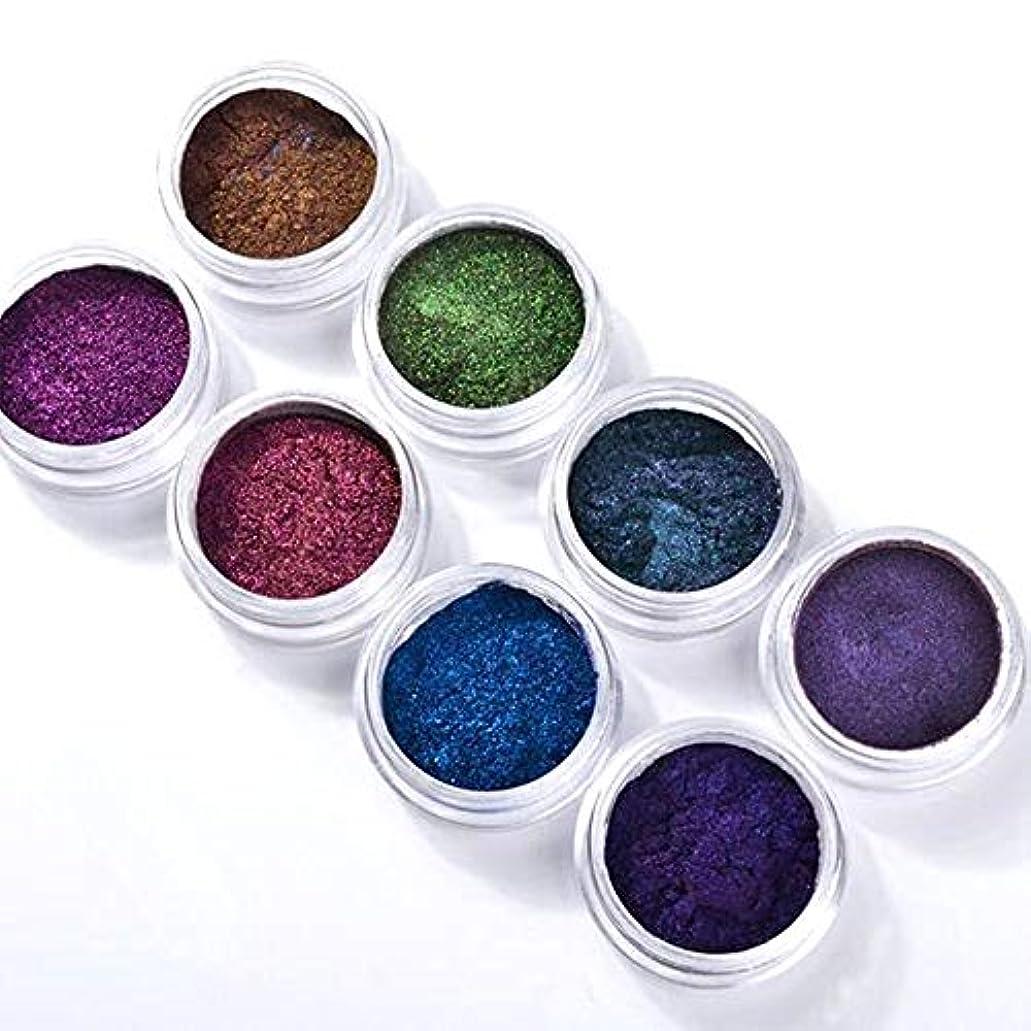 8色セット 高品質 ネオンパウダーカメレオンミラーパウダーネイルパーツジェルネイル ミラーネイル