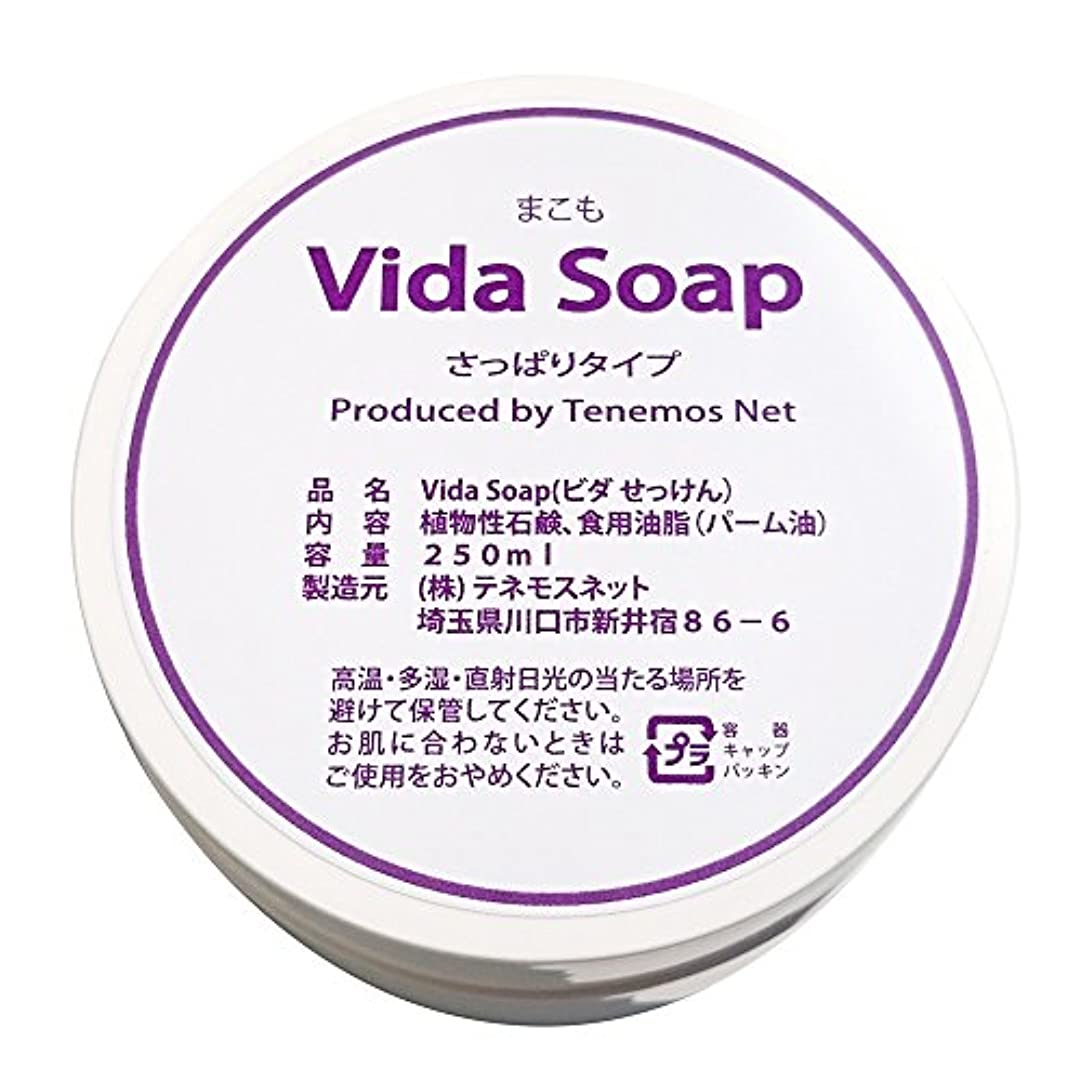 降臨勤勉なからかうテネモス ビダせっけん Vida Soap さっぱりまこも 植物性 250ml