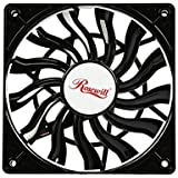 Rosewill Ultra Slim 120mm PWM Case Fan with Long Life Sleeve Bearing Cooling RASF-141213 Black