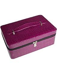 Decdeal エッセンシャルオイル収納ボックス エッセンシャルオイルキャリングケース 精油ケース 40本用 大容量 15ml ポータブルホルダーケースボックス