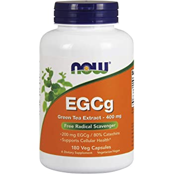 [海外直送品] ナウフーズ  EGCg Green Tea Extract 180 Vcaps 400Mg