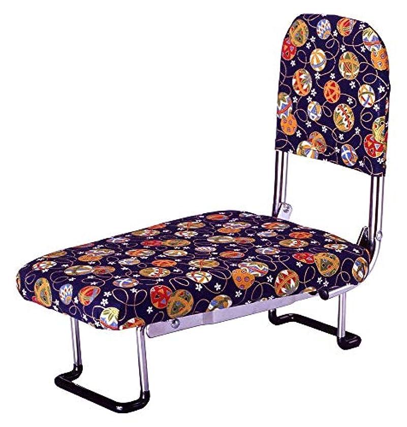 埋め込むナラーバー地獄長時間の正座もらーくらく 背もたれ付きの正座椅子 背もたれ付きらく座いす(正座椅子) [簡易パッケージ品] 手まり柄