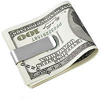 VALYRIA ステンレス クレジットカード対応 スマートペーパー マネー クリップ 財布 トラベルグッズ 旅行や出張などに! シルバー