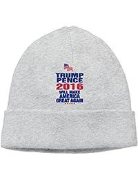 Rahaka ラハカ ドナルド トランプ ニュー大統領 ロゴ 大人 ヘッジキャップ ニット帽子 フィットネス ファッション グレー One Size
