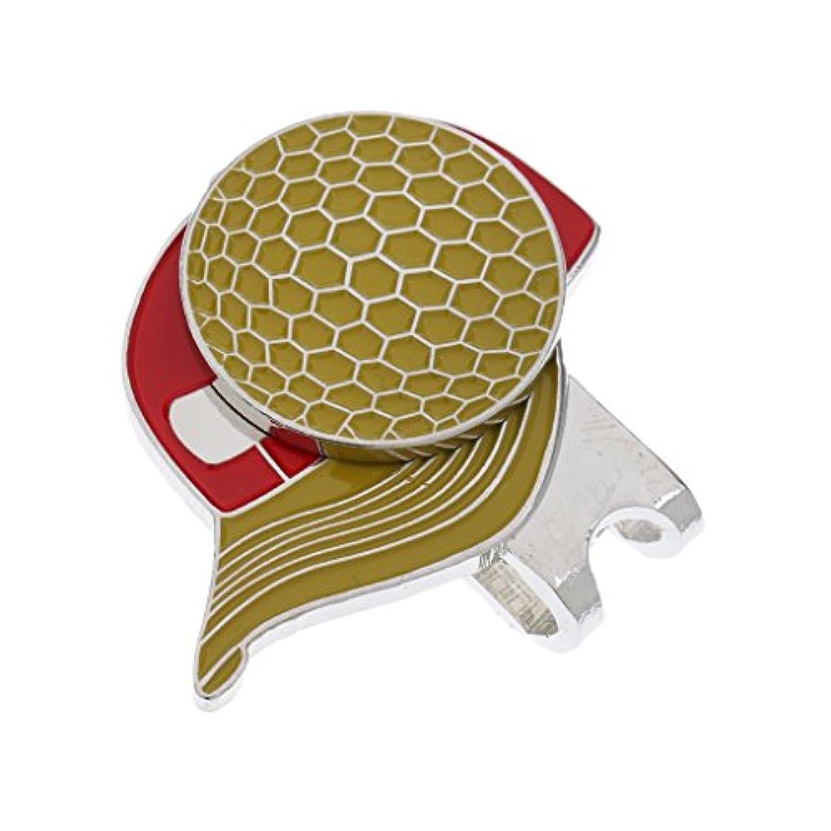 安心させる鮫挑発するPerfeclan ゴルフマーカー ゴルフボールマーカー ハットクリップ 合金製 磁気