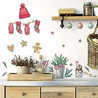"""ルームメイトRMK3926SCSクラシッククリスマスの皮とスティックの壁飾り、赤、緑茶色、4枚のシート9""""x 17.375"""""""