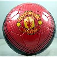 MANCHESTER UNITED FC SIZE 5 SOCCER BALL - RED/BLACK