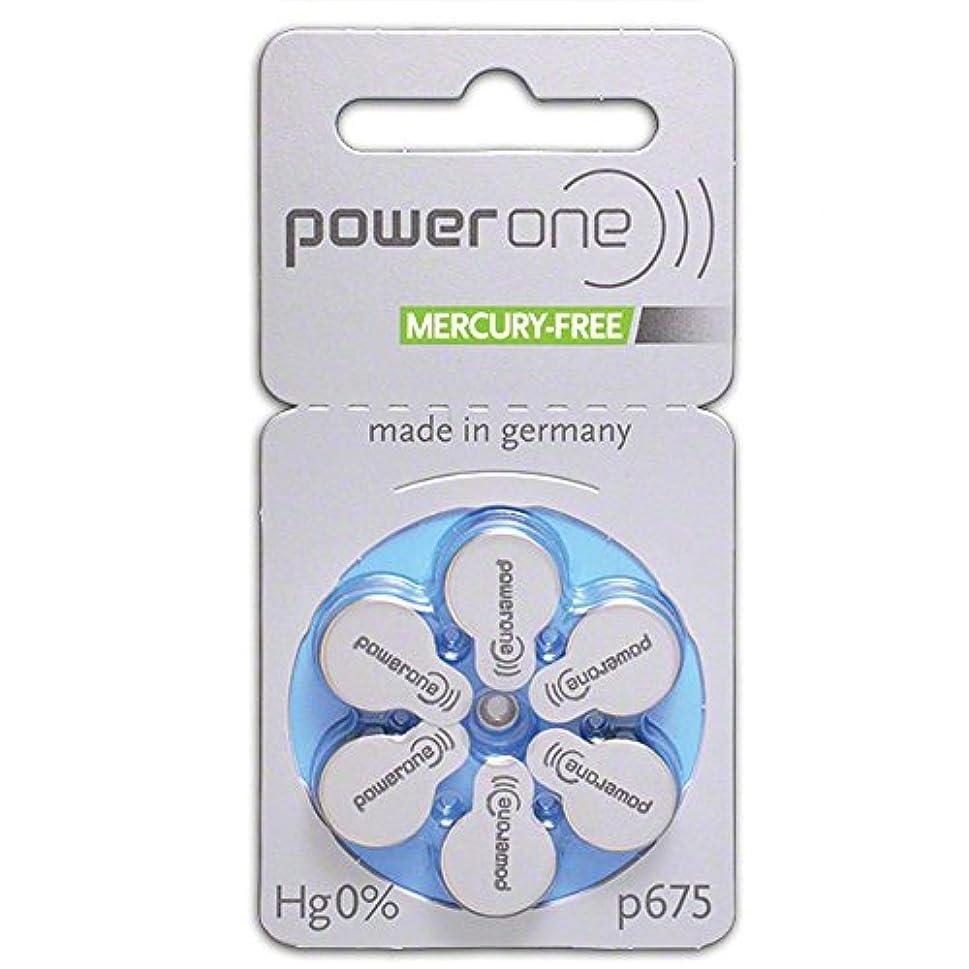 勘違いする二十熟読Power One ドイツ製パワーワン サイズ675 補聴器用電池 60個入り (並行輸入)