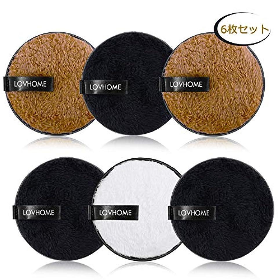 西マザーランド論理的DUOUPA クレンジングパッド 化粧落としパッド メイク落とし 6枚セット 洗い簡単 再利用でき 6枚パッド=約600枚シート