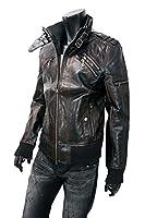 ライダースジャケット メンズ 大きいサイズ シングル A270901-02 ブラック L